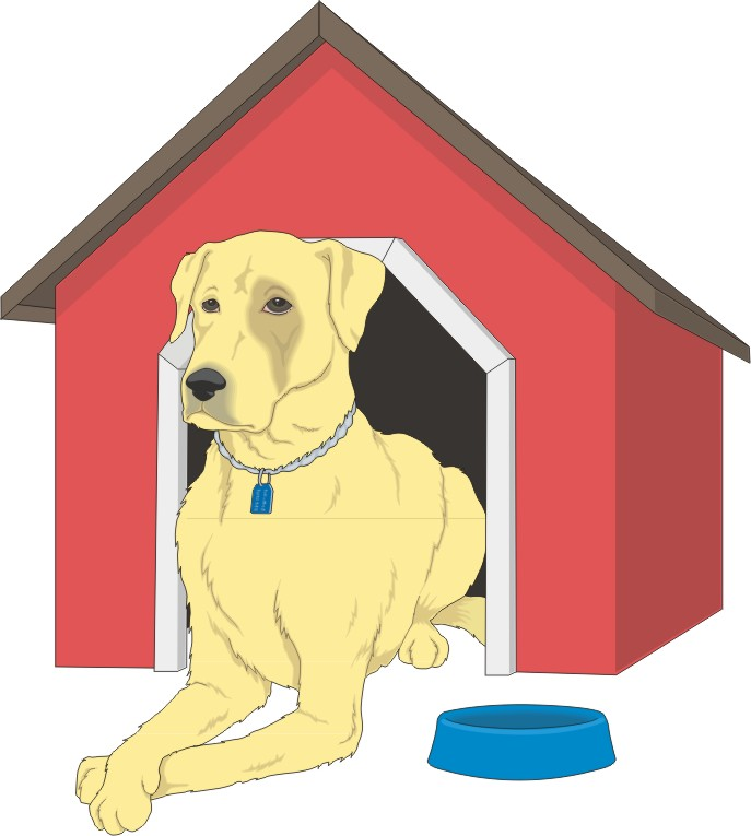 dog in doghouse clipart - photo #26